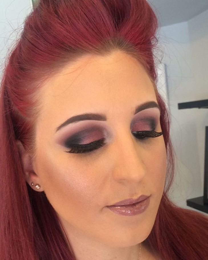 Pink and Black Eye Shadow Makeup