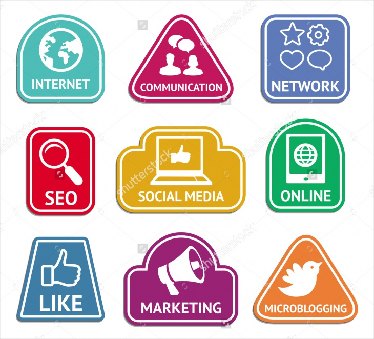 Vector Social Media and Internet Marketing Icons