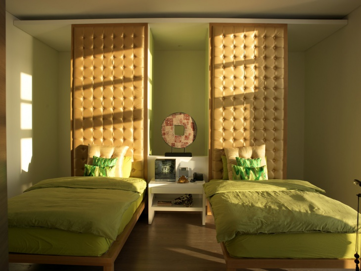 green bedroom remodeling