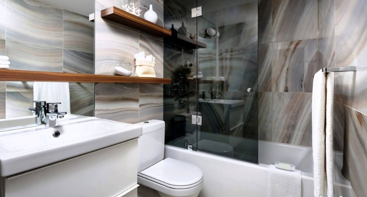 18+ Bathroom Floating Shelves Designs, Ideas | Design Trends ...