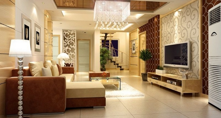 Great Living Room False Ceiling Designs