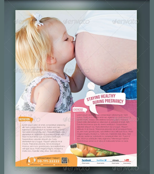 maternity hospital flyer template1
