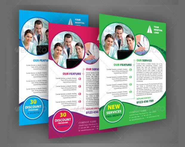 A4 Hospital Flyer Design