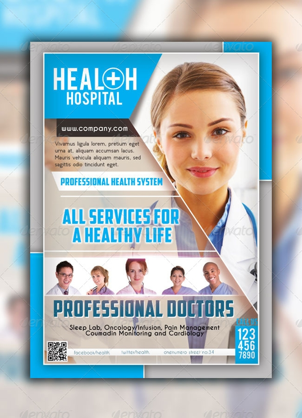 18 Hospital Flyer Templates Printable PSD AI Vector EPS – Hospital Flyer Template