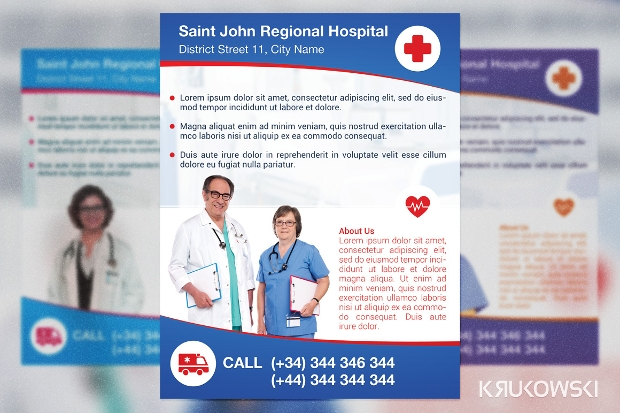 Hospital Flyer Templates  Printable Psd Ai Vector Eps