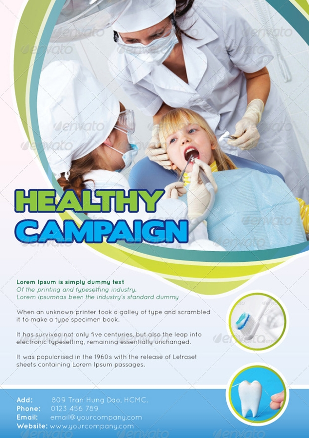 hospital healthy promotional flyer