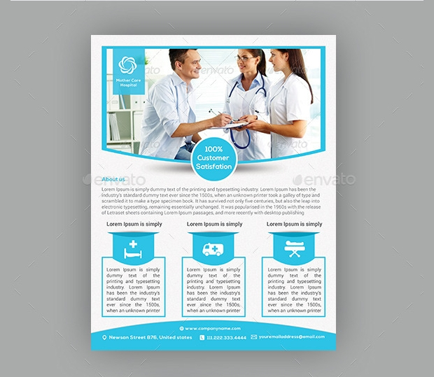photoshop psd hospital flyer