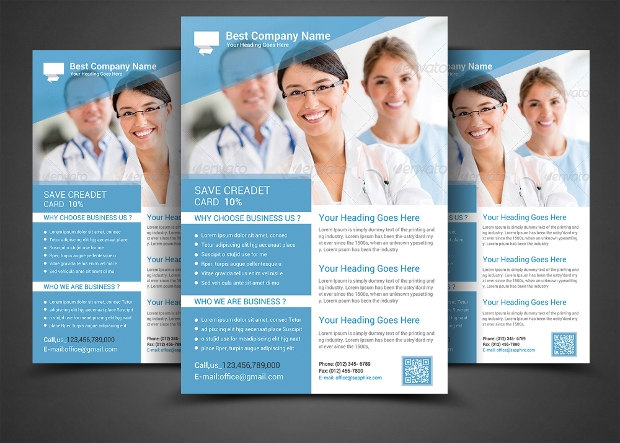 health and mediclal doctor flyer