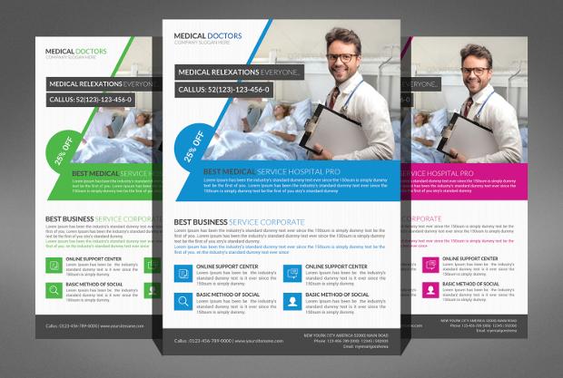 Medical Doctor PSD Flyer Design