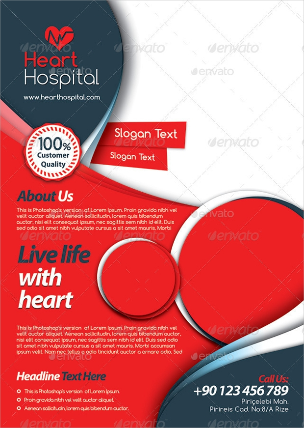 multipurpose hospital psd flyer