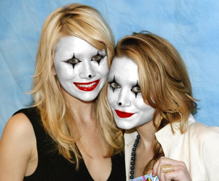 Olsen Twins Mime Makeup Design