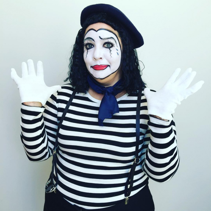 Happy Mime Makeup Design