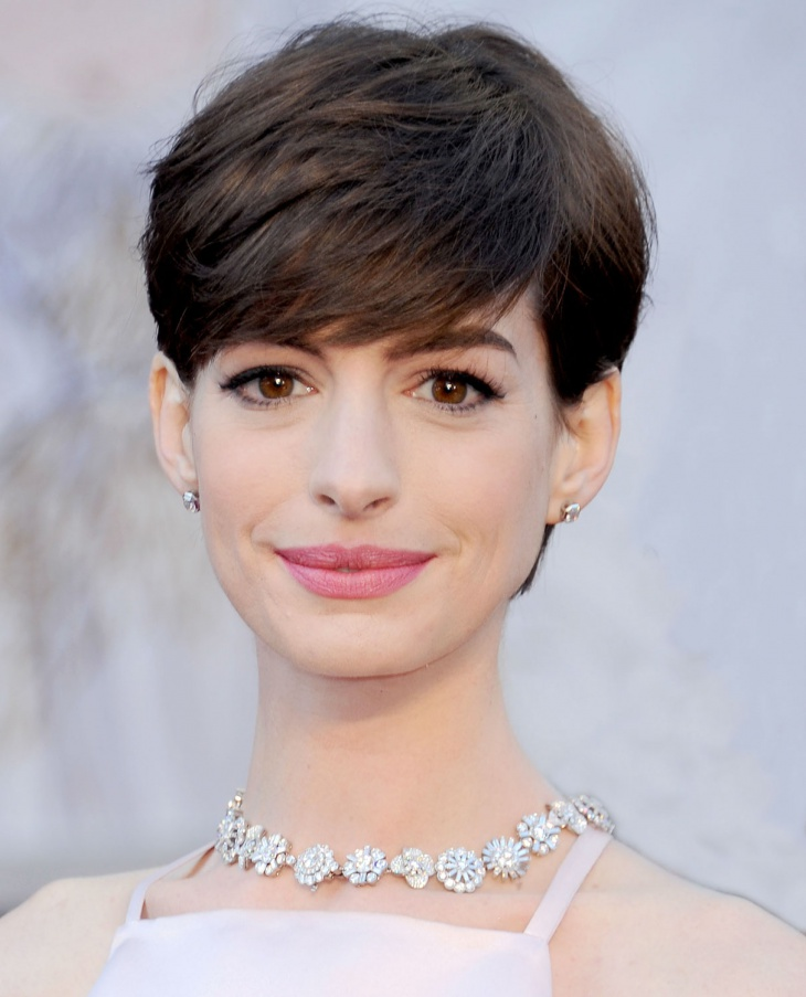 Anne Hathaway Short Pixie Haircut