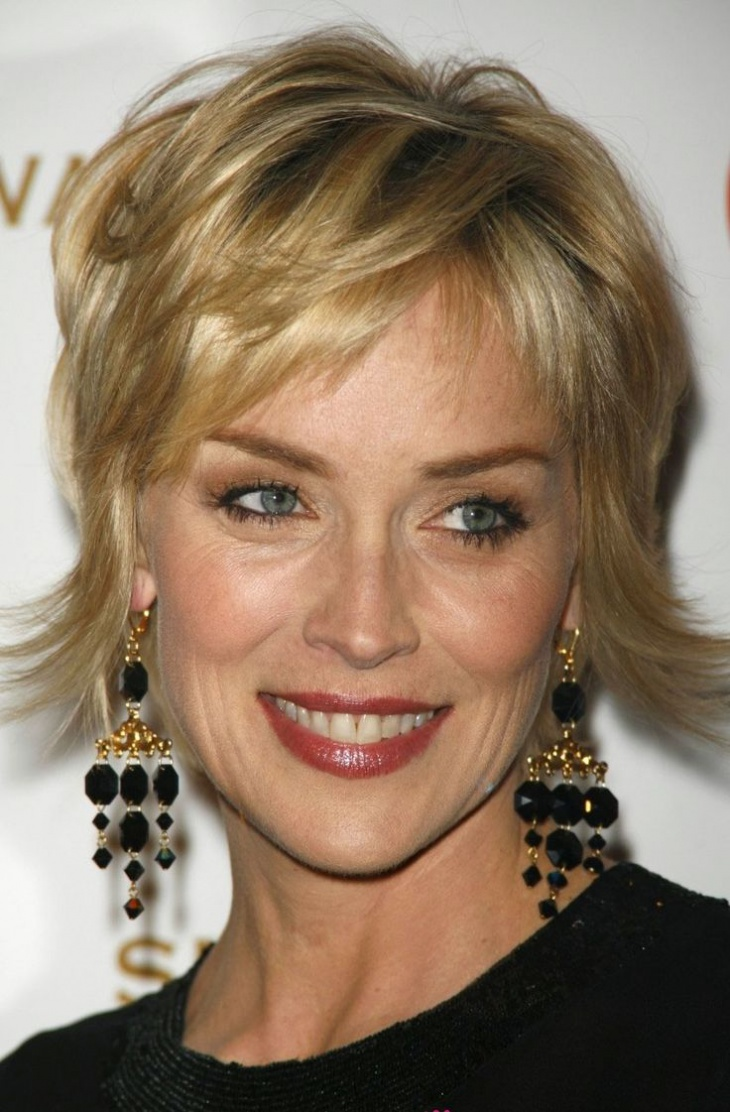 Sharon Stone's Formal Haircut