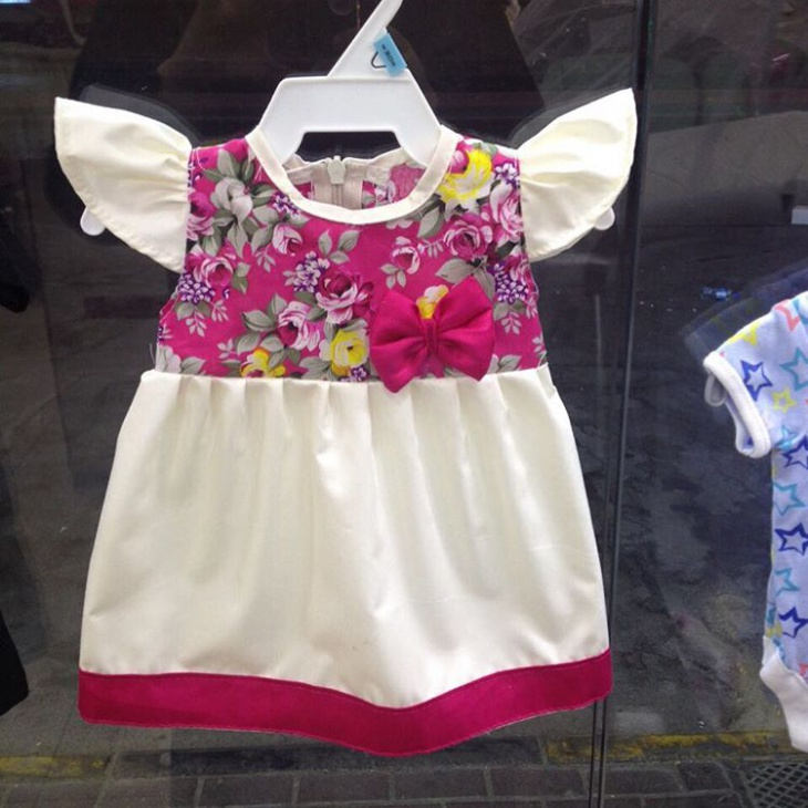 White and Pink Baby Frock