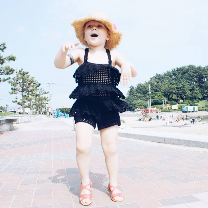 Black Lace Frock For Kids