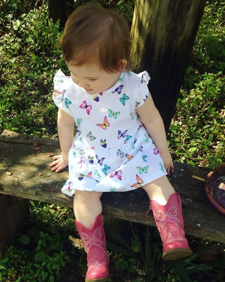Butterfly Design Baby Frock