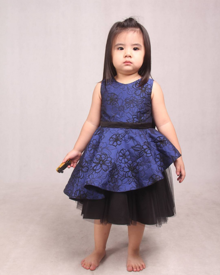 Blue Floral Baby Frock