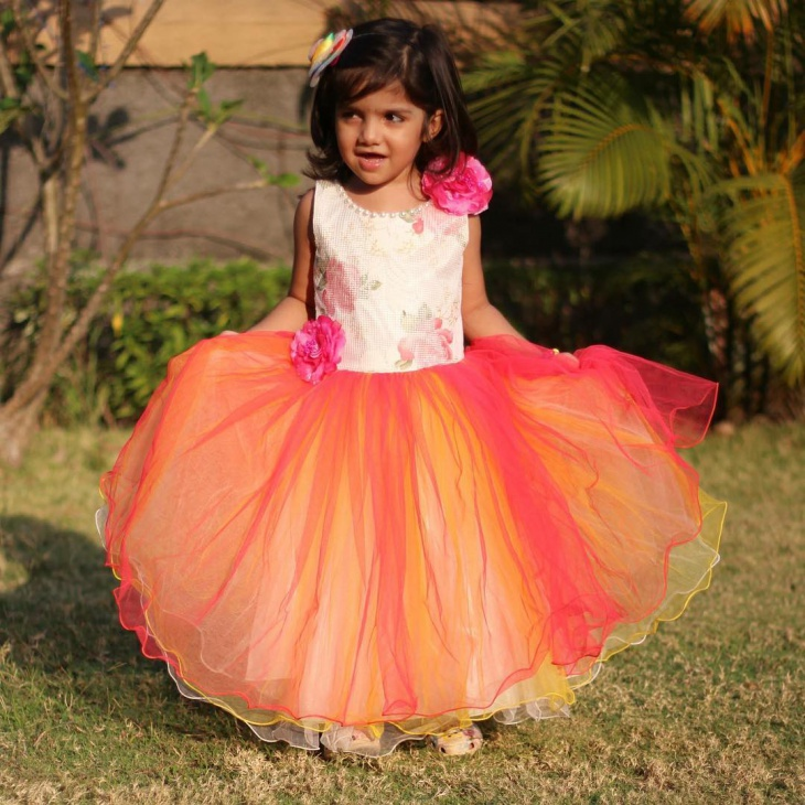 Colorful Frock For Baby Girl