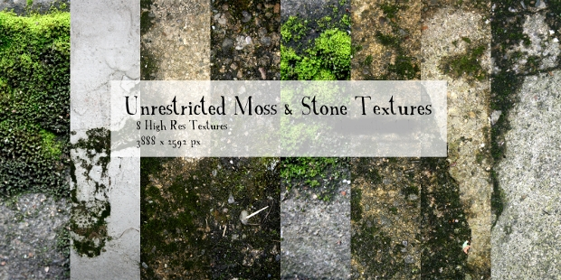 moss and stone texture idea
