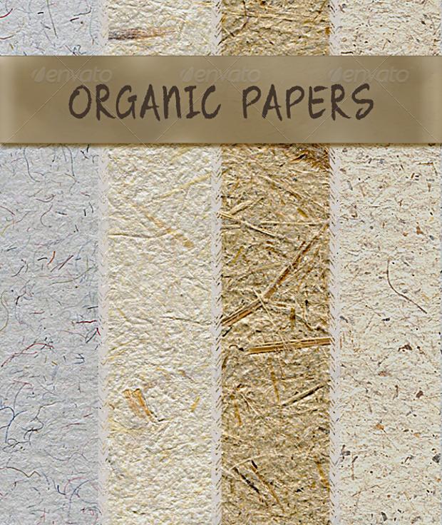Organic Handmade Paper Fibrous Texture