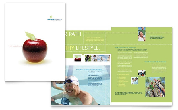 20 health brochures free psd ai indesign vector eps for Health pamphlet template