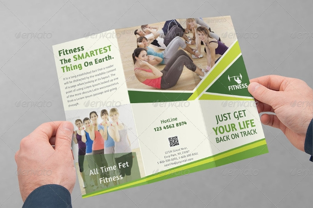 Health and Fitness Tri Fold Brochure