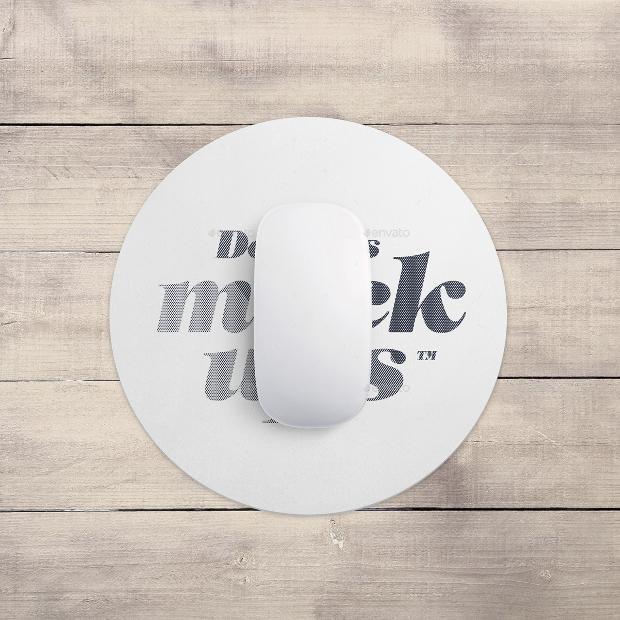 rectangular mouse pad mockup design