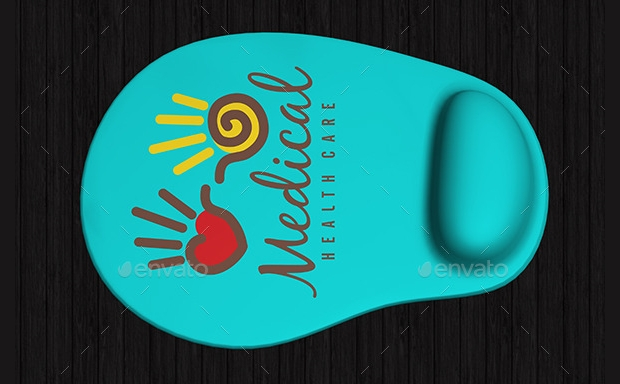 colorful mouse pad mock up