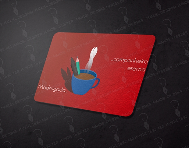 Red Mousepad Mockup Design