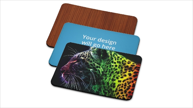 rectangular mousepad design mockup