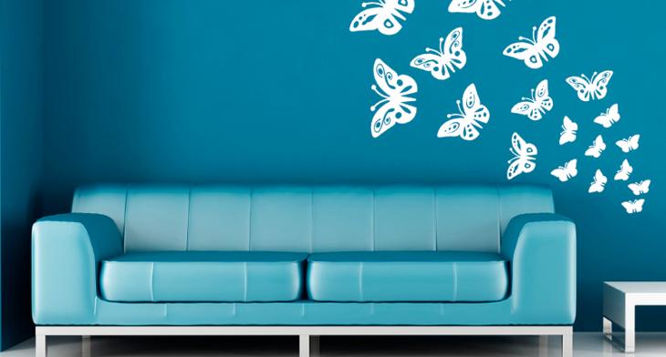 Three Frames On Wall Living Room