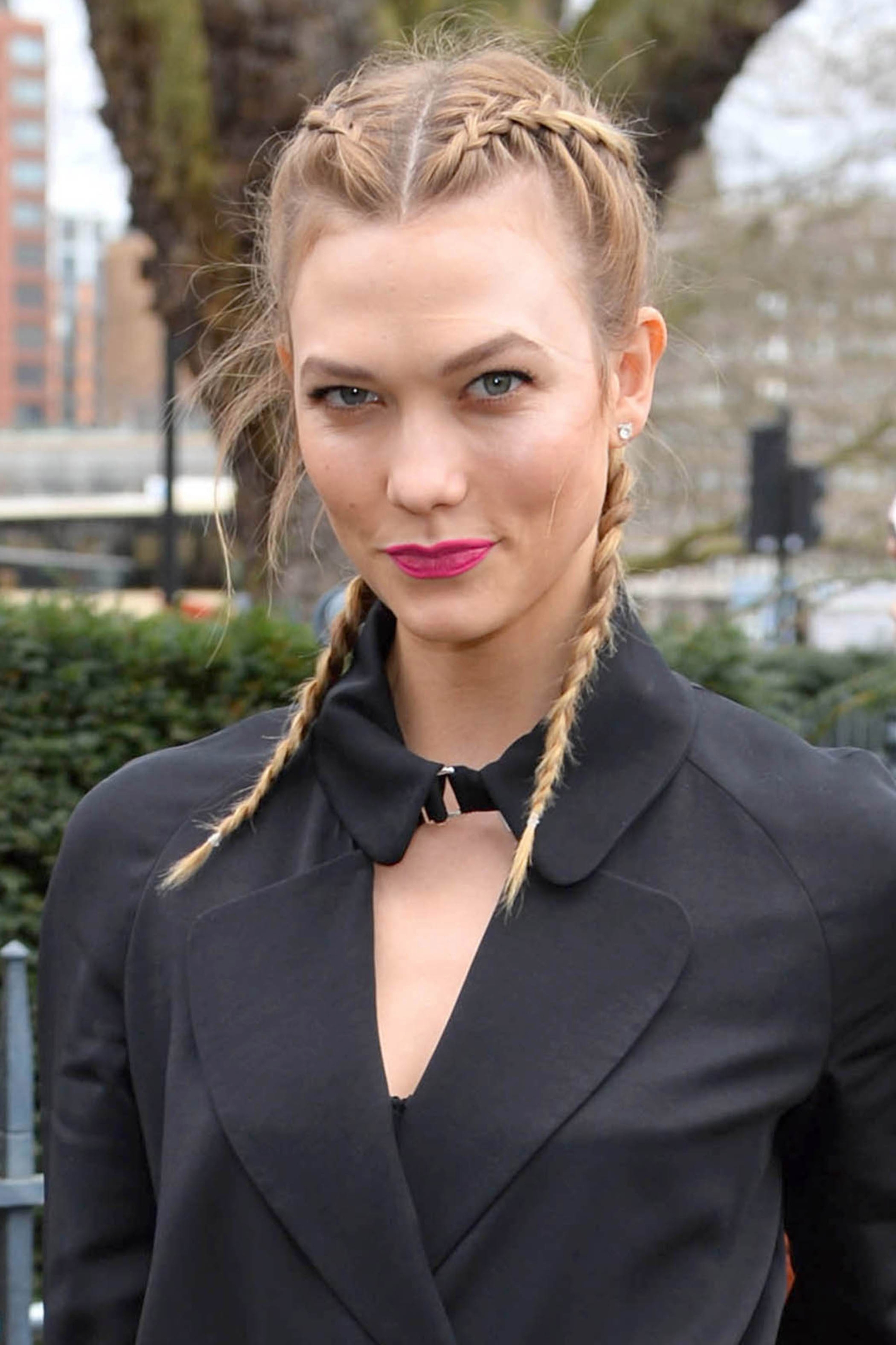 Karlie Kloss French Braided Pigtails..