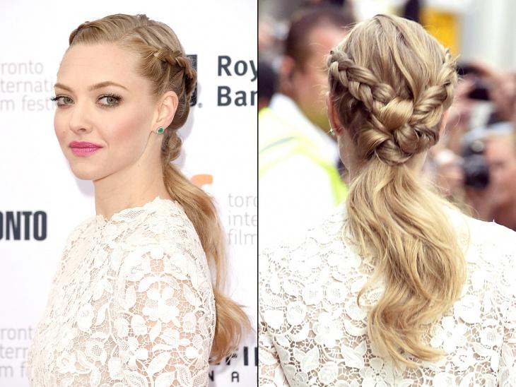 amanda seyfried braided hairstyle