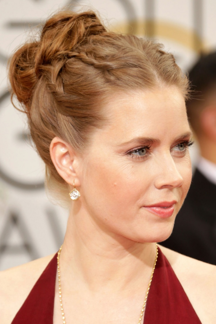 Amy Adams Double French Braid Updo