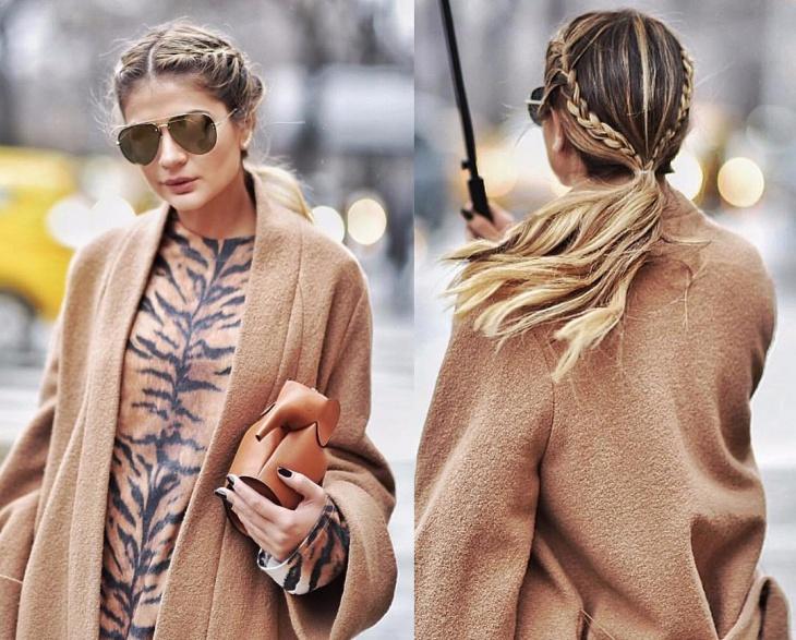 trendy look double braid hairstyle