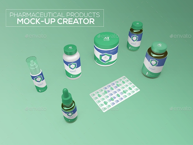pharmaceutical product mockup design