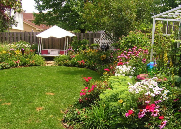 20 perennial garden designs ideas design trends for Flower garden ideas on a budget