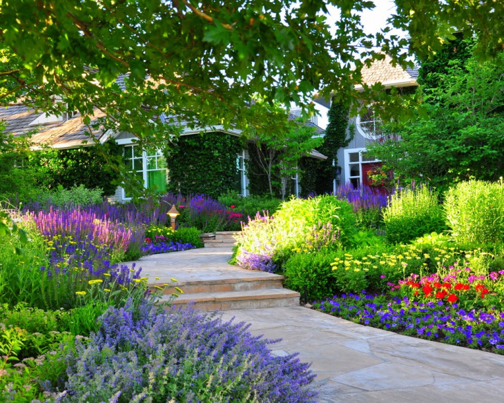colorful perennial garden