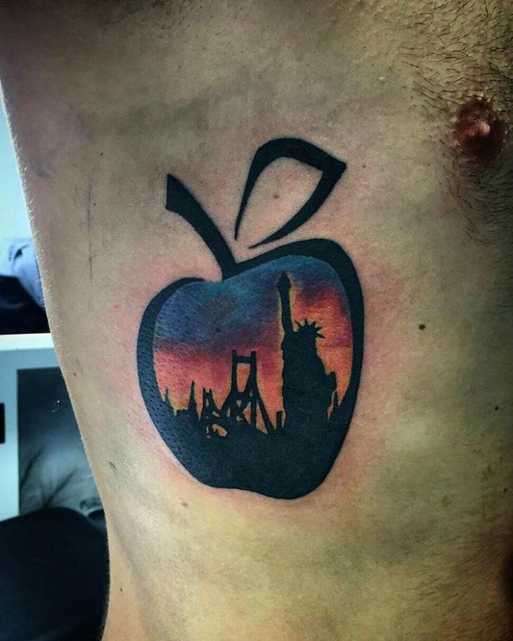 Craetive Apple Tattoo for Men