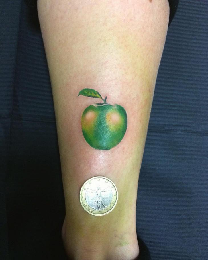 Lovely Green Apple Tattoo