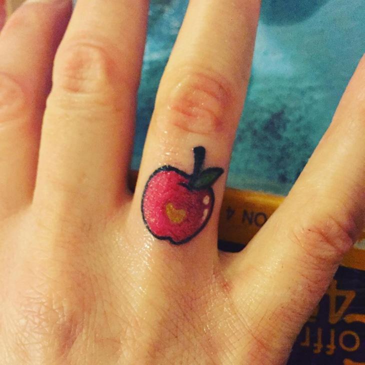 Pretty Finger Tattoo Design