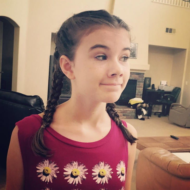 kids double french braid hairstyle