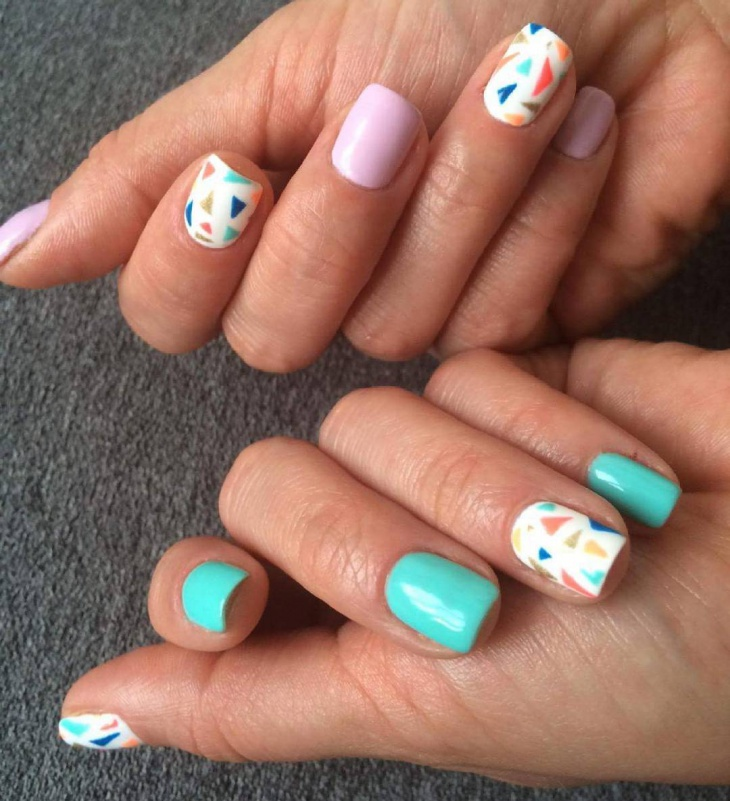Trendy Nail Art for Square Nails