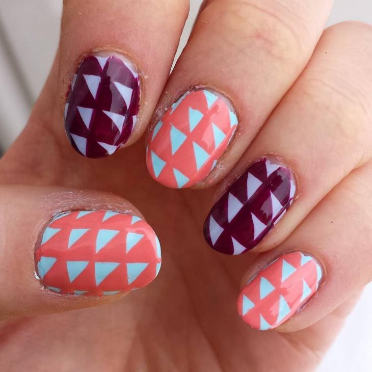 Beautiful Triangle Nail Art