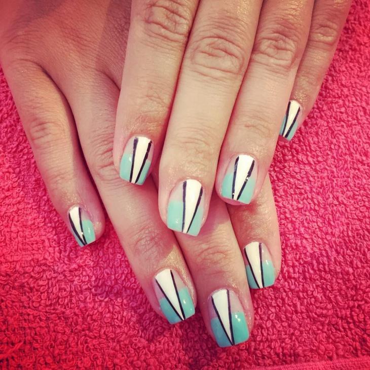lovely triangle nail art