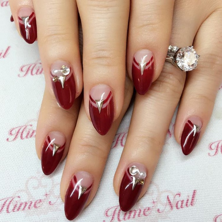 Wedding Nail Art Designs Gallery: 21+ Triangle Nail Art Designs, Ideas