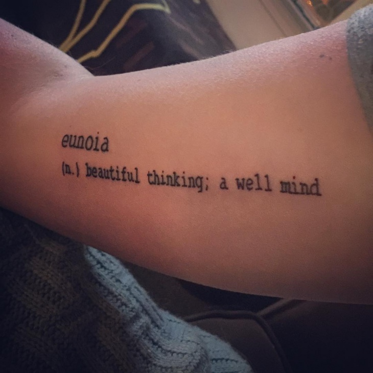 writing tattoo idea