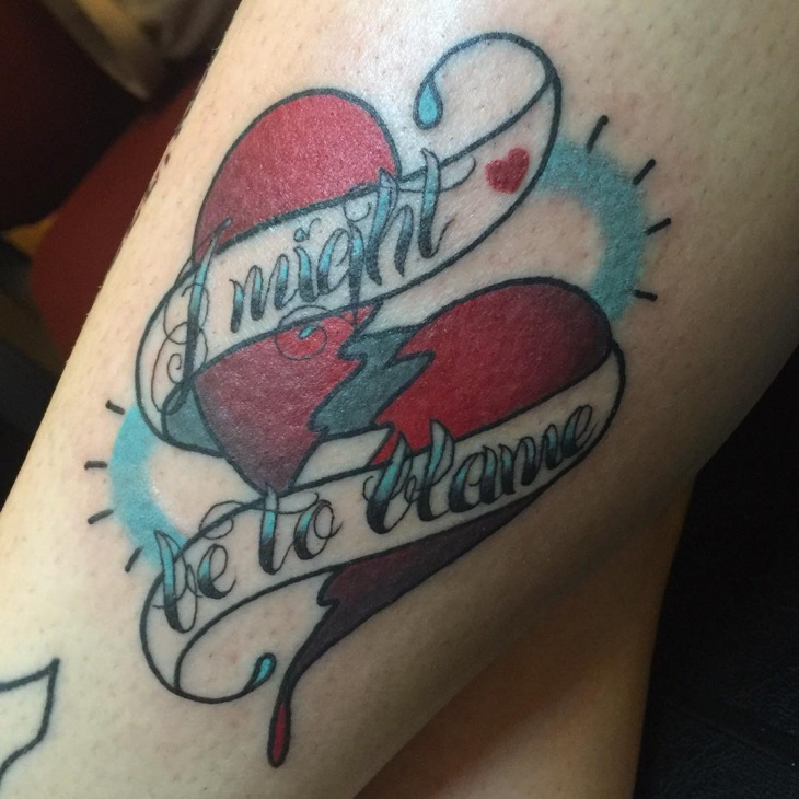 tragic statement tattoo design idea