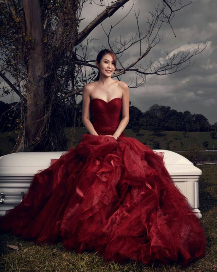 Red Color Evening Gown